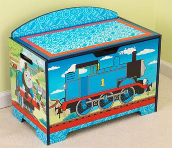 Thomas and Friends toy box. Adorable Thomas u0026 Friends™ artwork. Safety hinge on lid protects fingers from getting pinched. Doubles as a bench for additional ... & KidKraft Thomas and Friends toy box in Canada KidKraft item 20701 Aboutintivar.Com