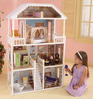 cheap doll houses with furniture. KidKraft Savannah Dollhouse. Features Include: Four Levels And Six Rooms Of Open Space. 13 Pieces Colorful Furniture. Cheap Doll Houses With Furniture